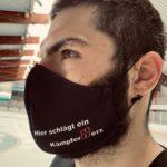 Julian Airich mit neuer Maske