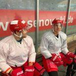 Jan Niklas Pietsch und Louis Trattner beim Training